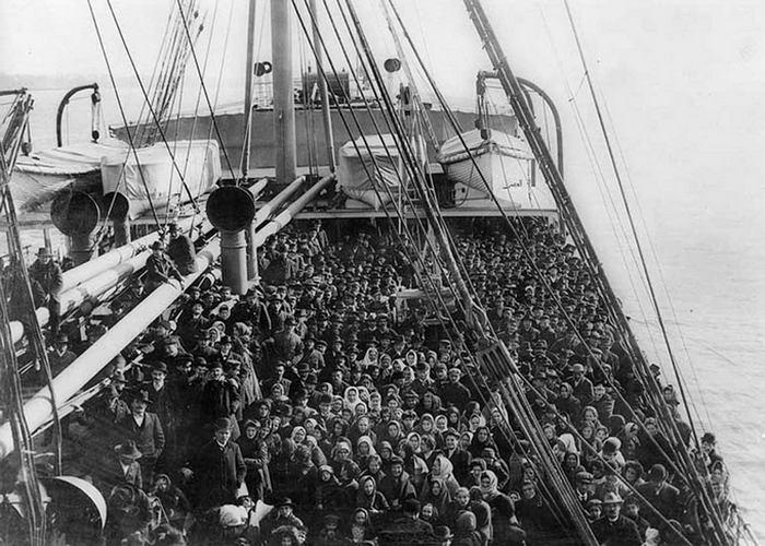 На одном из таких кораблей Джозеф прибыл в США./Фото: nethistory.su