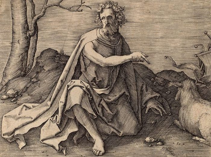 «Святой Иоанн Креститель в пустыне». Лукас ван Лейден.