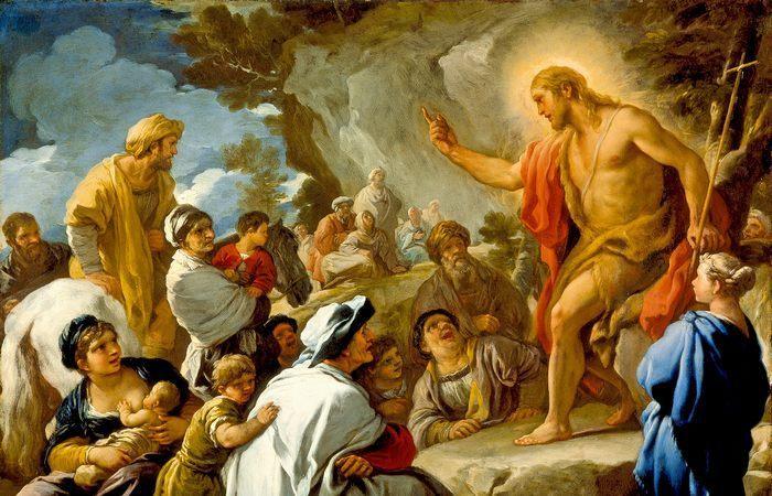 Фрагмент картины «Святой Иоанн Креститель проповедует», худ. Лука Джордано.