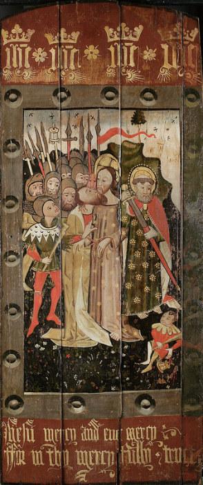 Поцелуй Иуды. Около 1460 года, Англия. Музей Фицуильяма, Кембриджский университет, Кембридж, Великобритания. Оригинал 1707 x 4062.