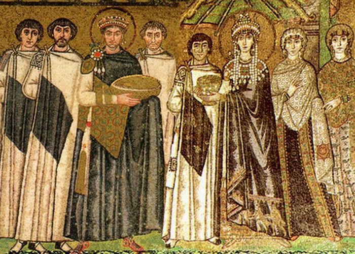 Святая чета на древней мозаике. / Фото: cryptohistory.info