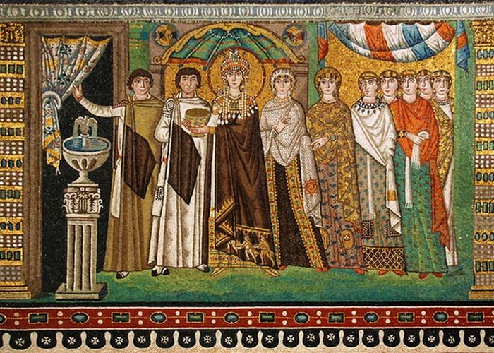Святая Феодора на древней мозаике. / Фото: m.epochtimes.ru