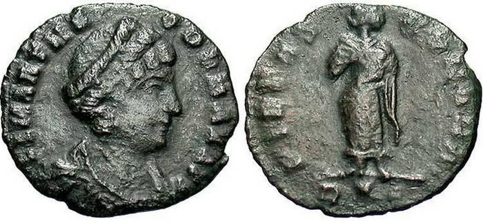 1 Фоллис (бронза) Римская империя 337г.-340г. / Фото: coinshome.net