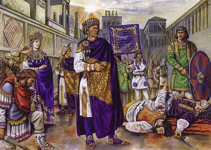 Юстиниан, Феодора, Велизарий и Мунд. / Фото: http://strategwar.ru
