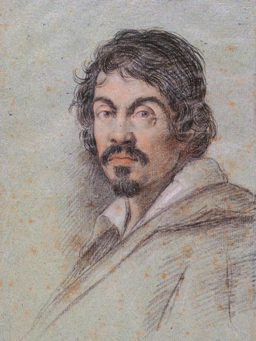 Портрет итальянского художника Микеланджело Меризи да Караваджо, работа Оттавио Леони, 1621