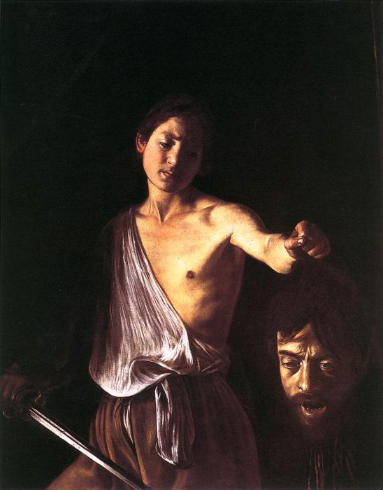 Давид с головой Голиафа. Караваджо