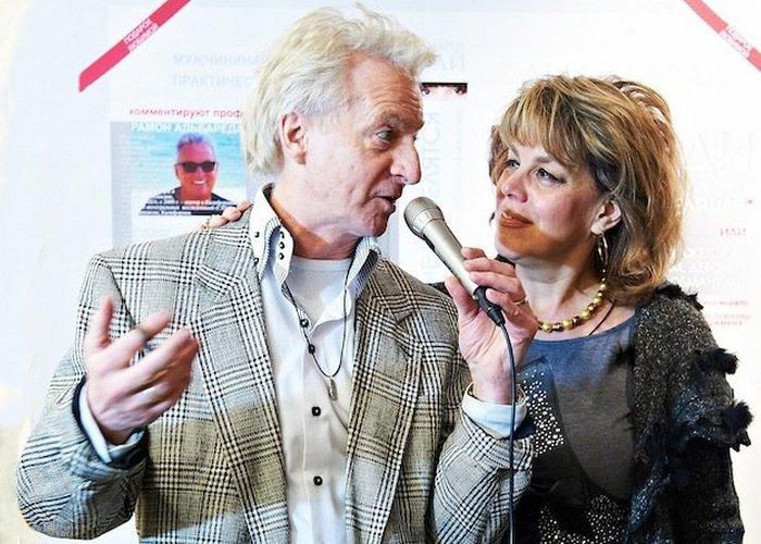 Любовь Казарновская с супругом. / Фото: moda.ru