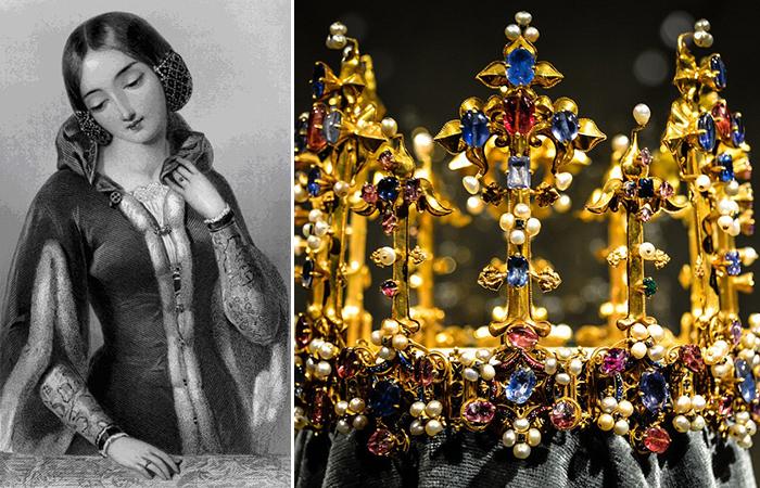 Знаменитая корона и ее первая обладательница Анна Богемская .