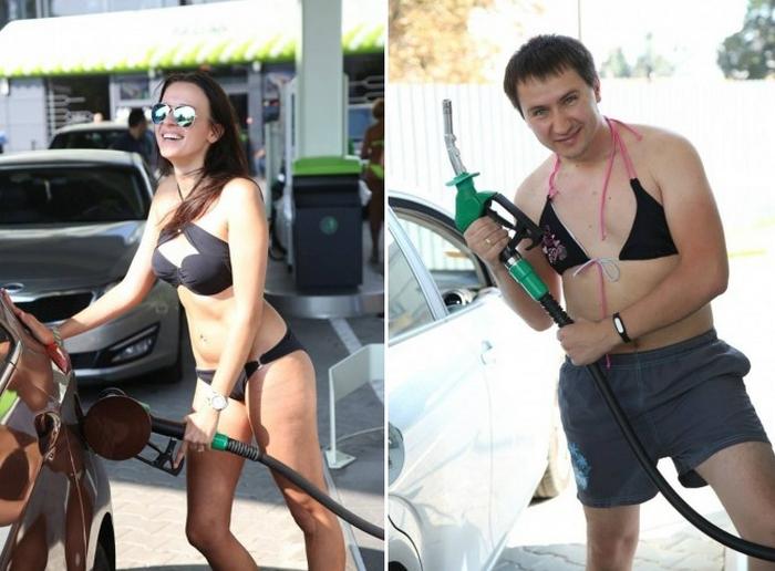 Знойная киевская акция для автомобилистов.