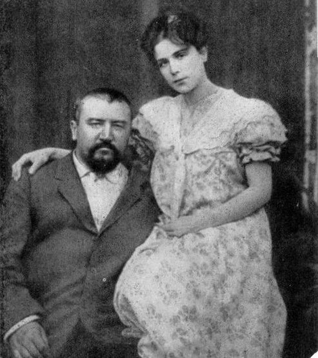 Александр Куприн с женой Елизаветой.