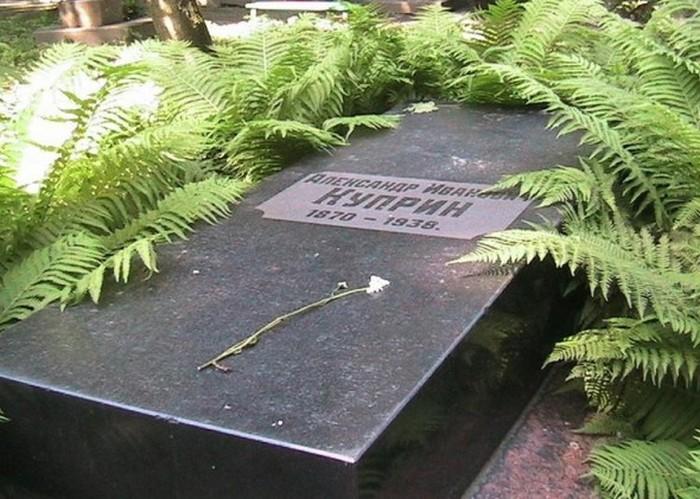 Могила Куприна на Волковском кладбище Санкт-Петербурга