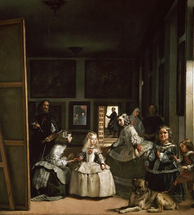 В центре картины находится инфанта Маргарита Тереза.