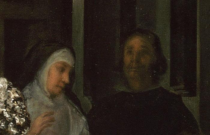Наставница принцессы донья Марселу де Уллоа и неизвестный гвардадамас.