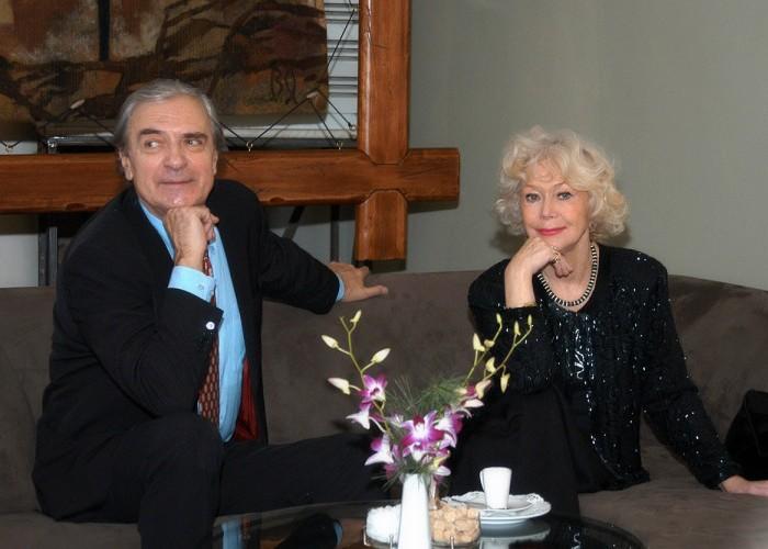 Любимцы любителей кино и театра Лазарев и Немоляева. / Фото: bellagiomoscow.ru