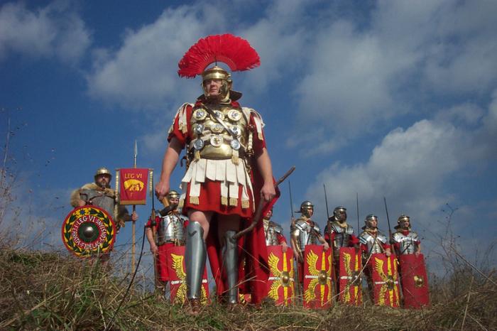 Так выглядели римские легионеры.