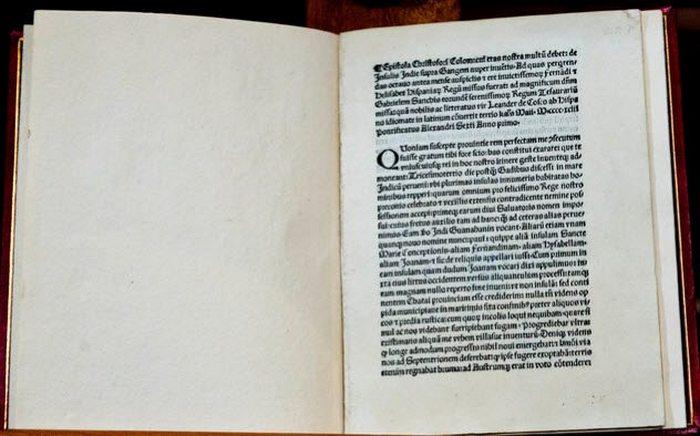 Письмо Колумба, которое было украдено.