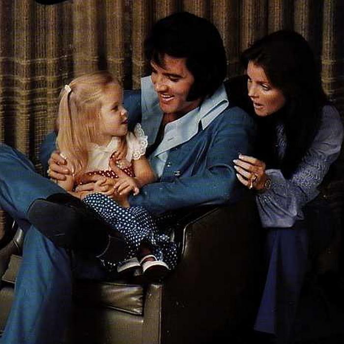 Лиза Мария Пресли с родителями