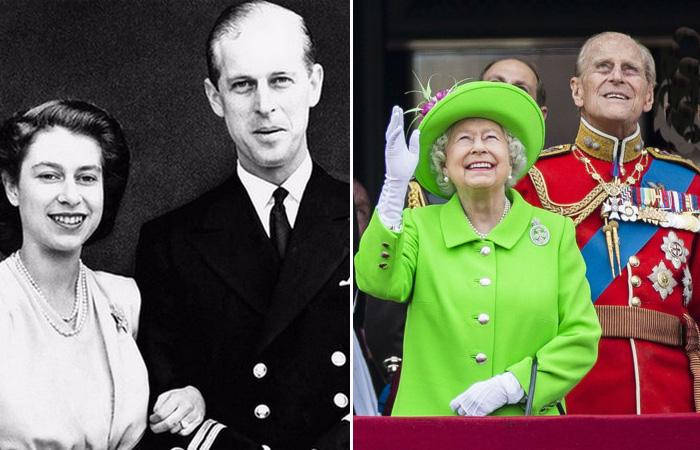 Елизавета II и принц Филлипп.