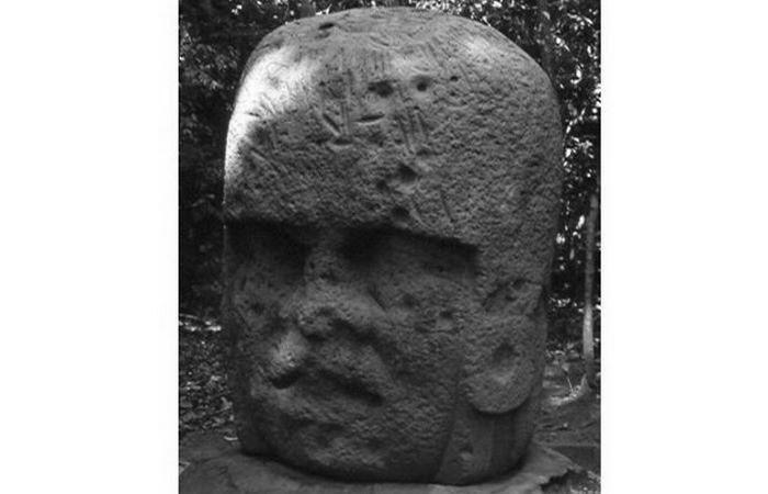 Недостроенная колоссальная голова Ла-Вента 3.