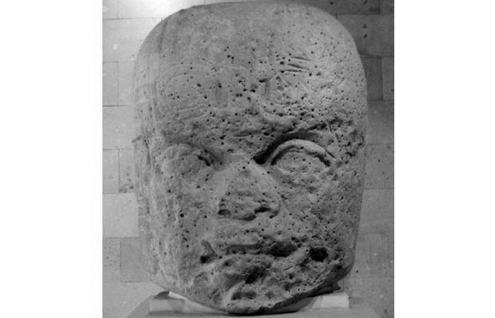 Голова №7 из Сан-Лоренцо в Музее антропологии в Халапе.