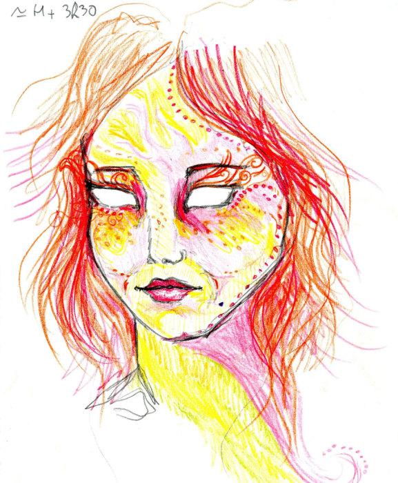 3 ч 30 мин. «Я не нарисовала глаза. Ты хочешь, чтобы я нарисовала глаза? Я не чувствую на этом рисунке глаз»