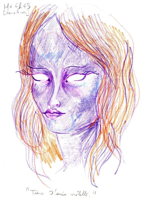 «Ну вот, я фиолетовая»
