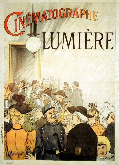 Афиша «Синематографа» Люмьеров, 1895 год.