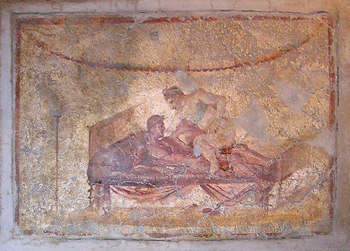 Одна из фресок из лупанария.
