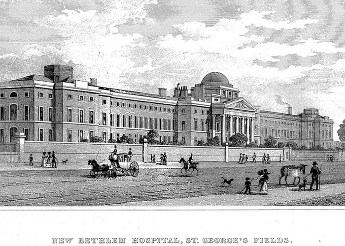 Бетлемская больница в Сент-Джордж Филдс, 1828 год.