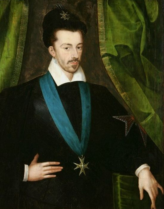 Генрих III Валуа. Портрет 1578 года.