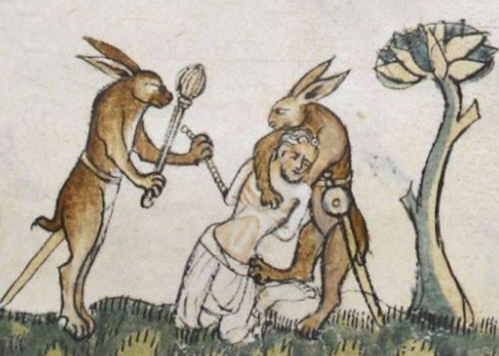 Средневековое искусство: кролики-убийцы.