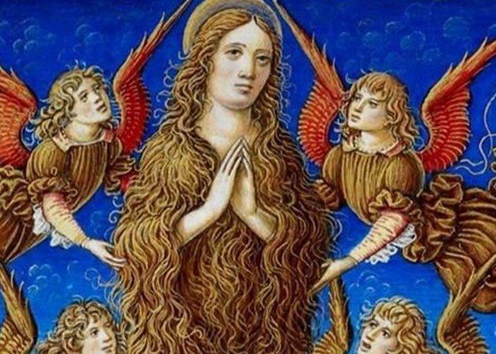 Средневековое искусство: Мария Магдалина, покрытая волосами.