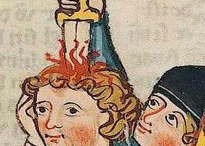 Средневековое искусство: убийство беззаботных людей.