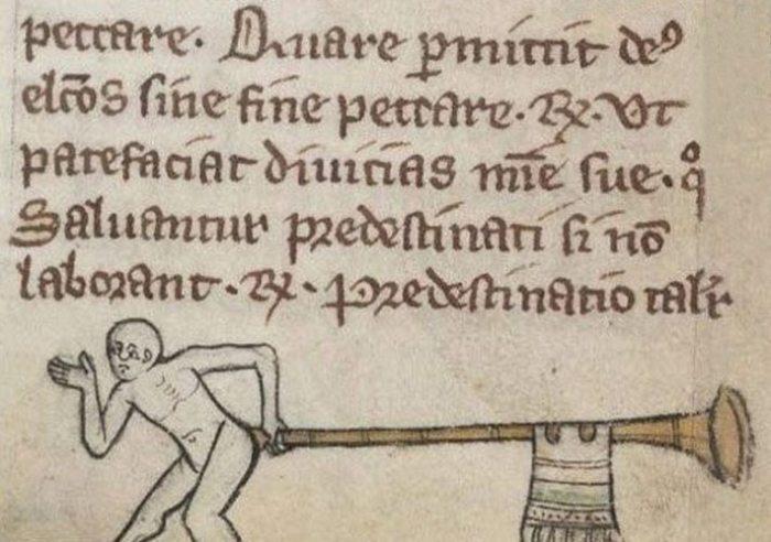 Средневековое искусство: вещи, торчащие из зада.