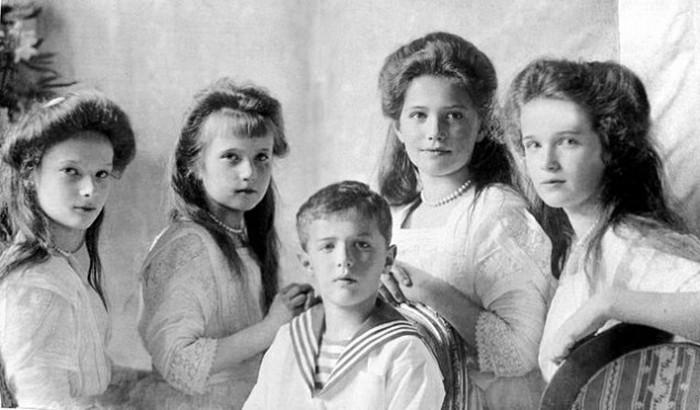 Дети русского царя Николая II.