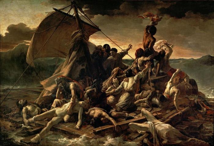 «Плот Медузы». Теодора Жерико. 1818 - 1819 гг. Холст, масло.
