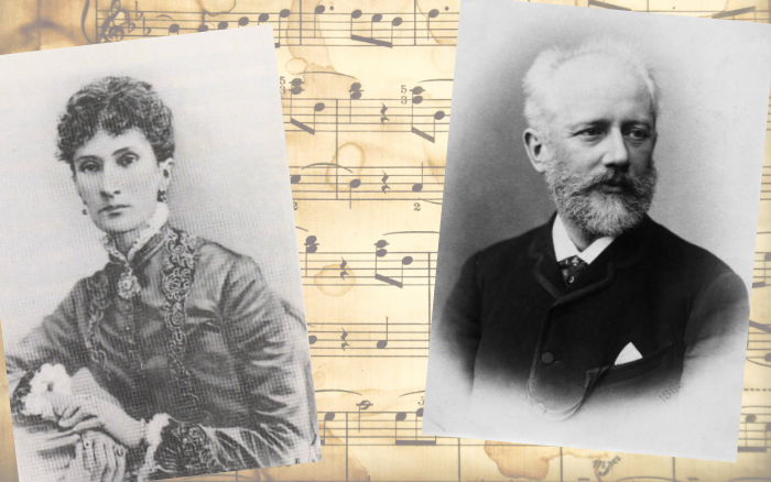 Надежда Филаретовна фон Мекк и Пётр Ильич Чайковский.