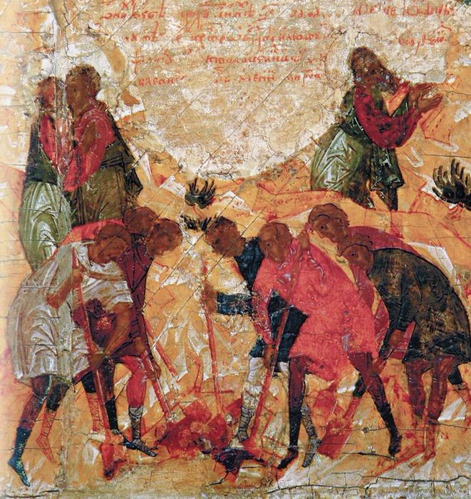 Христианский обряд погребения первого века.