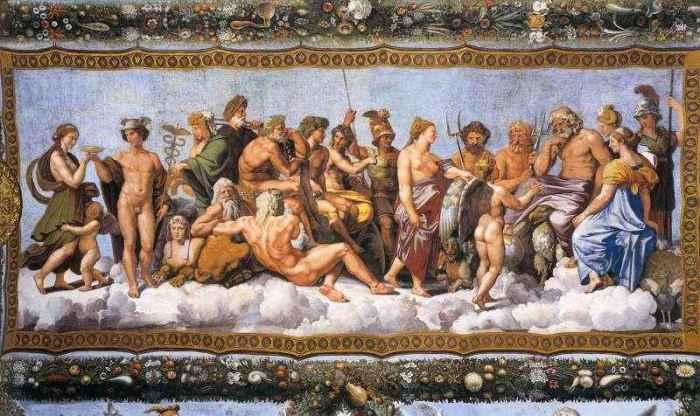 Мифы древних римлян и греков.