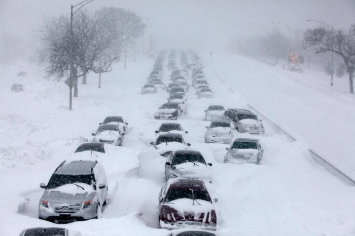 Снежный плен на трассе Оренбург - Орск.