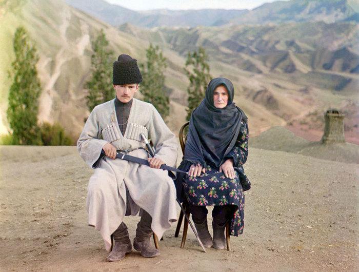 Мать и сын. Дагестан.
