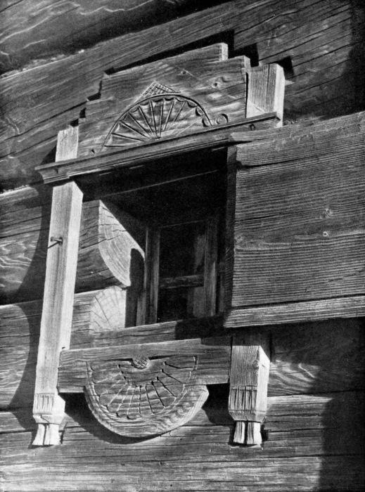 Такими были оконные наличники до 17-го века.