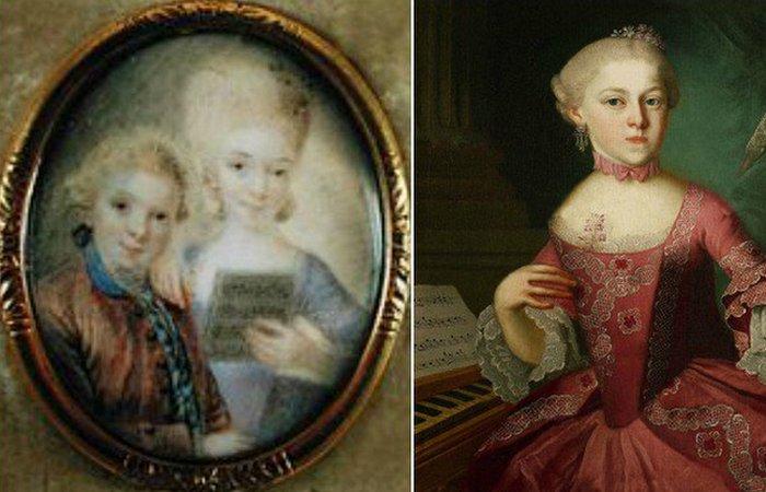 Вольфганг и Наннерль Моцарт, примерно 1763 год. / Фото: thevintagenews.com