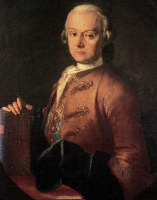 Леопольд Моцарт, худ. Пьетро Антонио Лоренцони, 1765 год. / Фото: thevintagenews.com