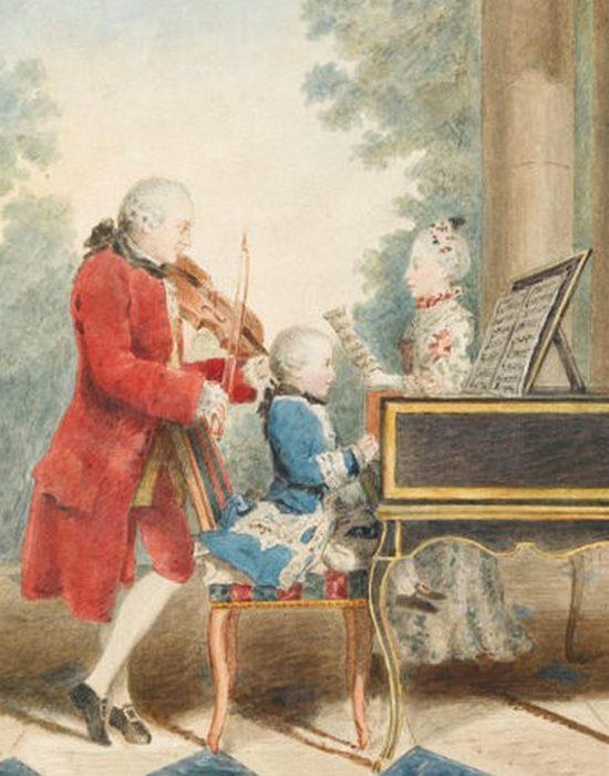 Семья Моцарта на гастролях./фото: thevintagenews.com