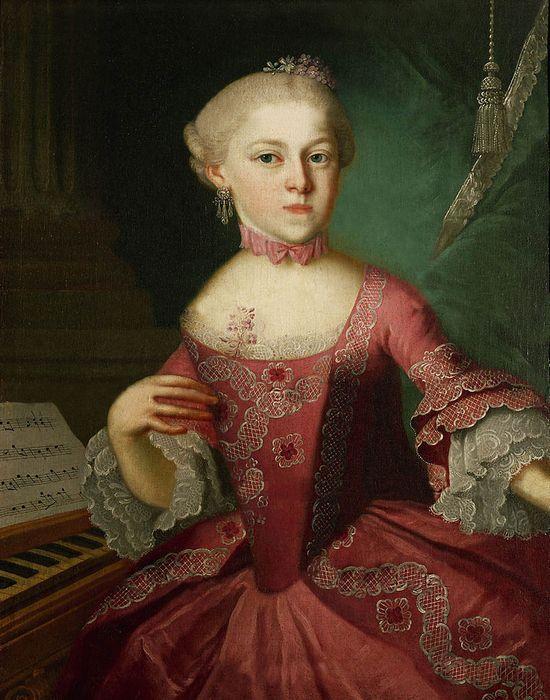 Мария Анна Моцарт в детстве, 1763год. / Фото: thevintagenews.com