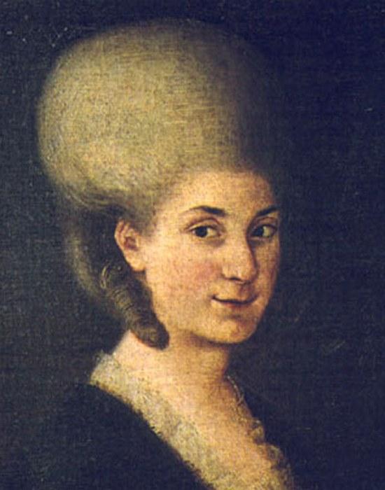 Портрет Марии Анны Моцарт, 1785 год. / Фото: thevintagenews.com