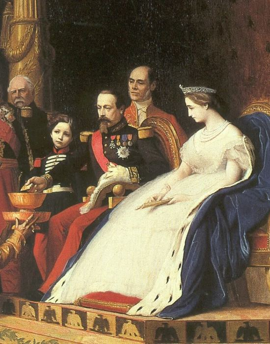 Наполеон III и графиня Теба с сыном в окружении свиты. / Фото: bit.ua