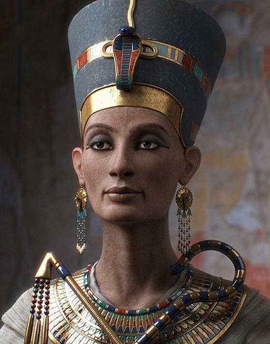 Реконструкция внешности Нефертити.