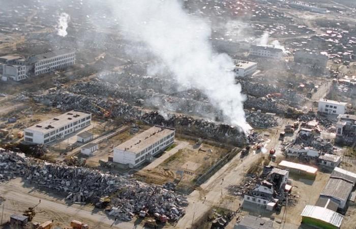 Разрушенный Нефтегорск./ Фото: citygu.ru